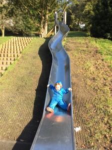 Slide at Cwmdonkin Park, Uplands, Swansea